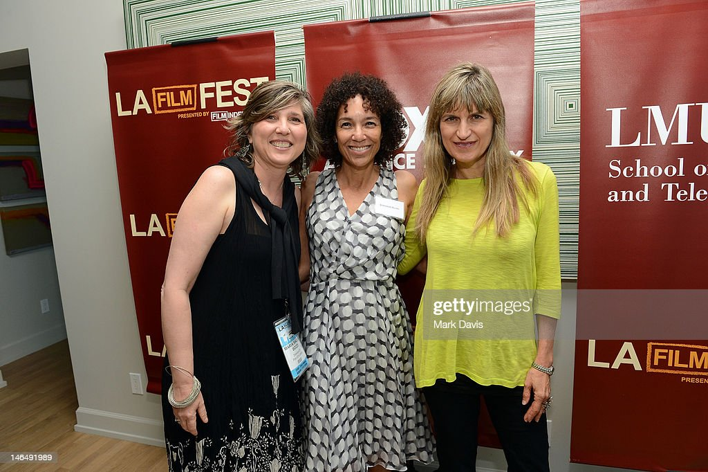 Film Independent director of education Maria Bozzi, Los Angeles Film Festival Director Stephanie Allain, and director Catherine Hardwicke attend the Woman of Animation Lunch during the 2012 Los Angeles Film Festival at Ritz Carlton on June 17, 2012 in Los Angeles, California.