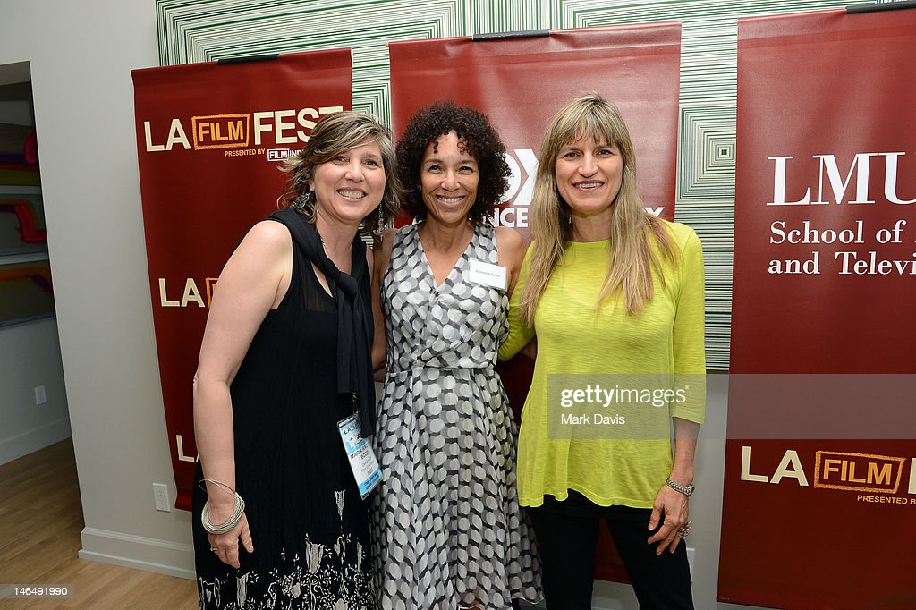 Film Independent director of education Maria Bozzi, Los Angeles Film Festival Director <a gi-track='captionPersonalityLinkClicked' href=/galleries/search?phrase=Stephanie+Allain&family=editorial&specificpeople=2079610 ng-click='$event.stopPropagation()'>Stephanie Allain</a>, and director <a gi-track='captionPersonalityLinkClicked' href=/galleries/search?phrase=Catherine+Hardwicke&family=editorial&specificpeople=208862 ng-click='$event.stopPropagation()'>Catherine Hardwicke</a> attend the Woman of Animation Lunch during the 2012 Los Angeles Film Festival at Ritz Carlton on June 17, 2012 in Los Angeles, California.