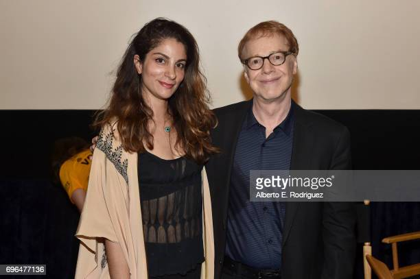Film Independent programmer Roya Rastegar and composer Danny Elfman attend the premiere of 'Rabbit Rogue' during the 2017 Los Angeles Film Festival...
