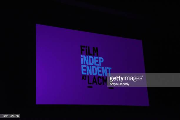 Film Independent signage at the Film Independent at LACMA screening of Bring The Noise Gulliver's Travels at Bing Theatre At LACMA on May 11 2017 in...