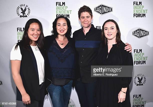 Film Independent's Angela Lee Sloan Distribution Grant winners Sharon Greene and Logan Kibens and Jennifer Kushner Director of Artist Development at...