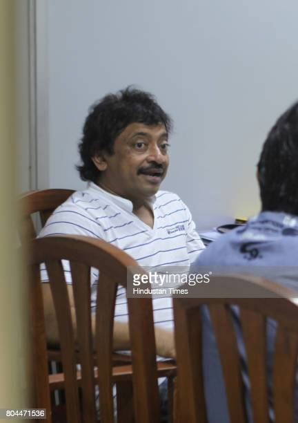 Film maker Ram Gopal Varma comes to the Versova Police station for police protection at Andheri for his statement on casting Maria Susairaj convicted...