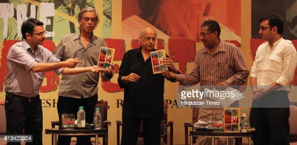 Film makers Mahesh Bhatt Sudhir Mishra and Chhattisgarh Inspector General of Police Pawan Deo release a book 'The Absent State' written by Authors...