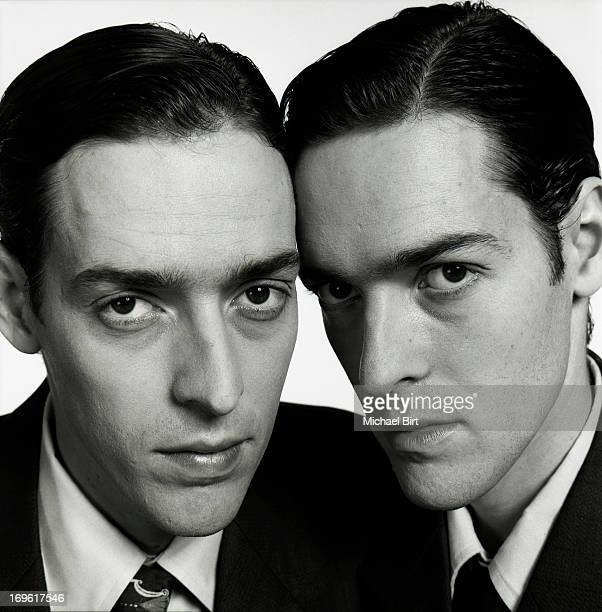 Film makers Mark and Michael Polish are photographed for Talk Magazine on February 27 1999 in New York City