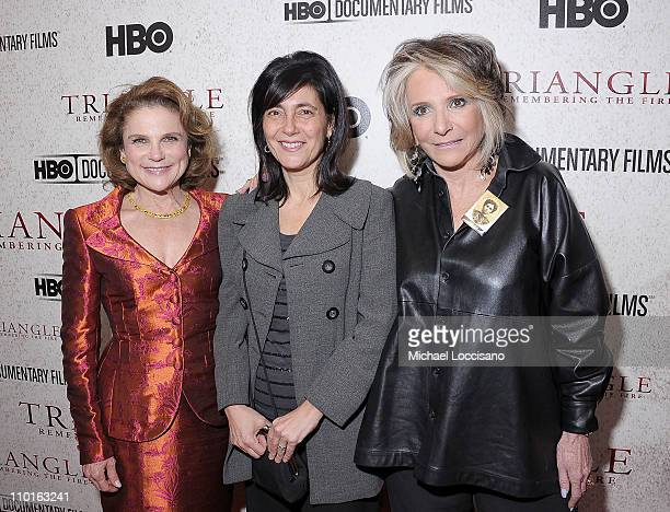 Film narrator Tovah Feldshuh director Daphne Pinkerson and President of HBO Documentary and Family Programming Sheila Nevins attend the HBO...