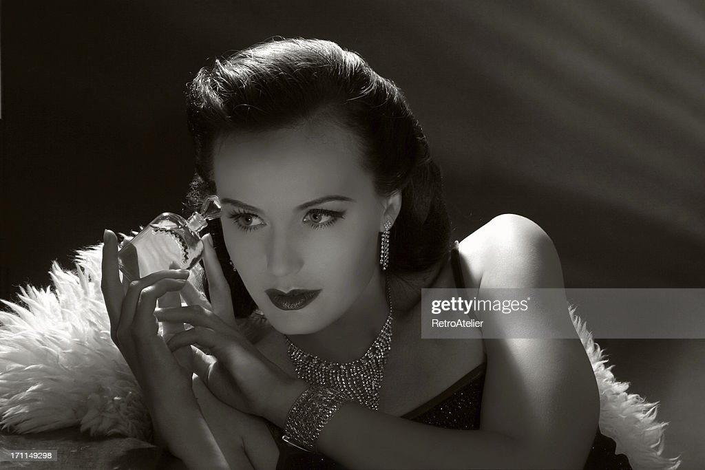 Film Noir Style.Forbidden fruit : Stock Photo