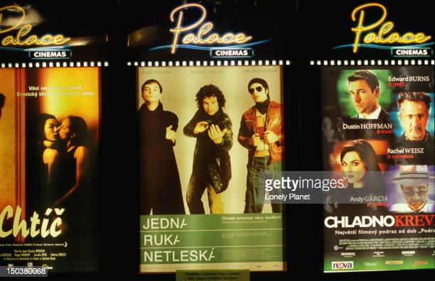 Film posters at Palace  Cinema in Slovansky.