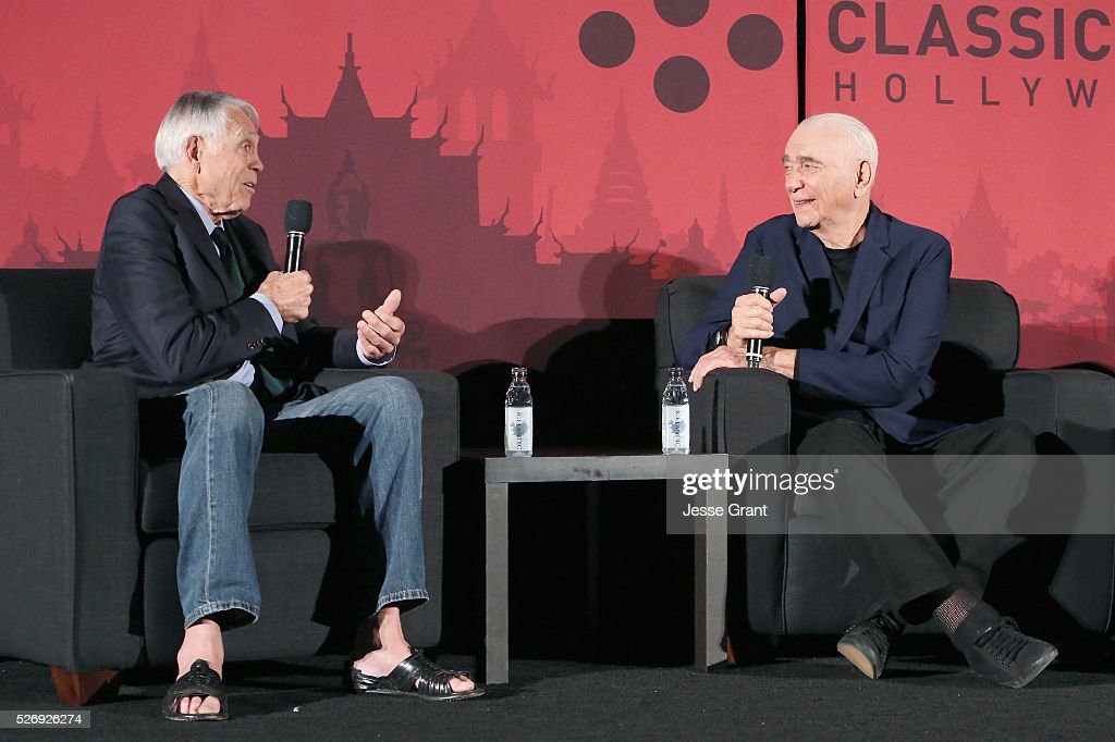 Film producer Al Ruddy (L) and actor/ former NFL player Joe Kapp speak onstage during 'The Longest Yard' screening during day 4 of the TCM Classic Film Festival 2016 on May 1, 2016 in Los Angeles, California. 25826_009
