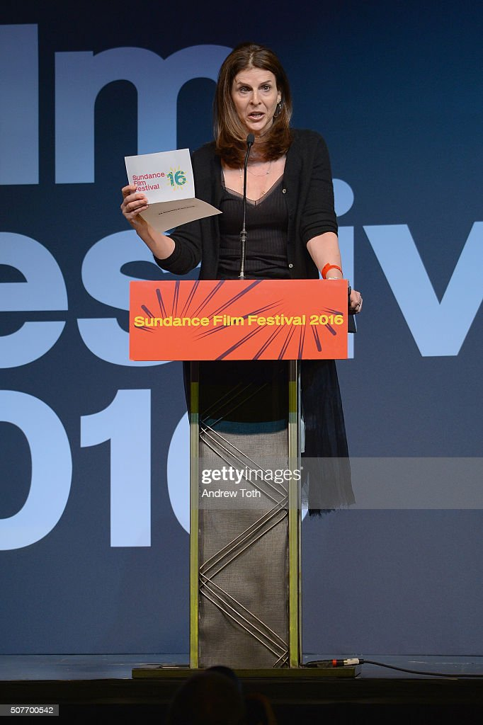 Film producer Amy Ziering onstage at the Sundance Film Festival Awards Ceremony during the 2016 Sundance Film Festival at Basin Recreation Field...