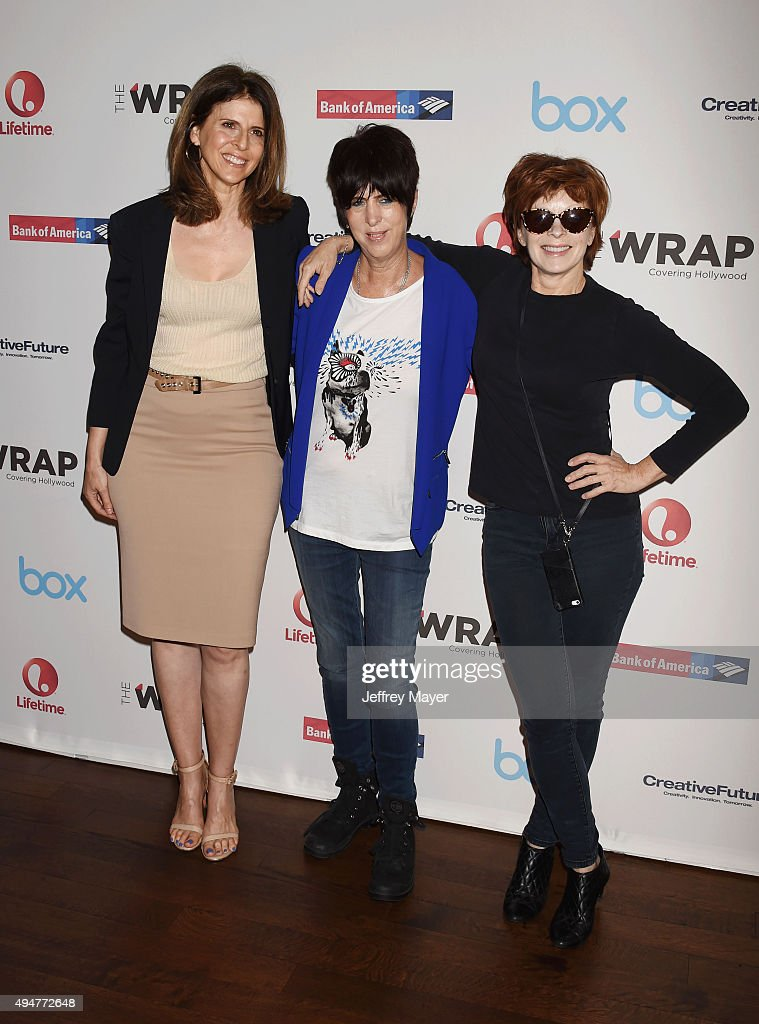 Film producer Amy Ziering songwriter Diane Warren and actress Frances Fisher arrive at the TheWrap's Power Women Breakfast at Ocean Prime restaurant...