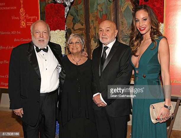 Film producer and Hungarian government film industry commissioner Andrew G Vajna Hungarians in Hollywood hosts Bonnie and Bela Bunyik and director of...