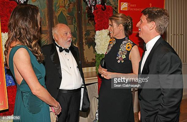 Film producer and Hungarian government film industry commissioner Andrew G Vajna and wife Timea Vajna greet United States ambassador to Hungary...