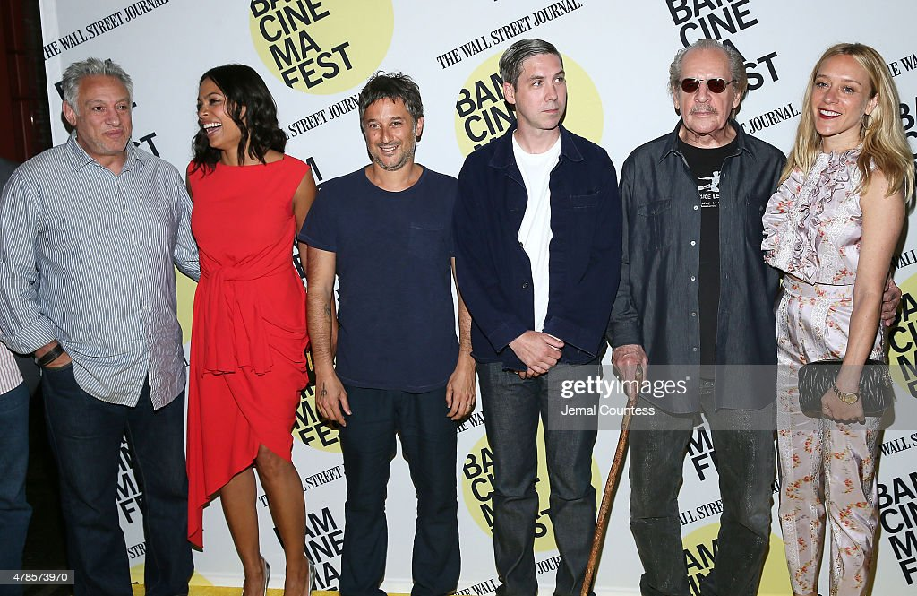 Film producer Cary Woods, actress Rosario Dawson, Harmony Korine, Leo Fitzpatrick, director Larry Clark and Chloe Sevigny attend the 'Kids' 20th Anniversary Screening at BAMcinemaFest 2015 at BAM Peter Jay Sharp Building on June 25, 2015 in New York City.