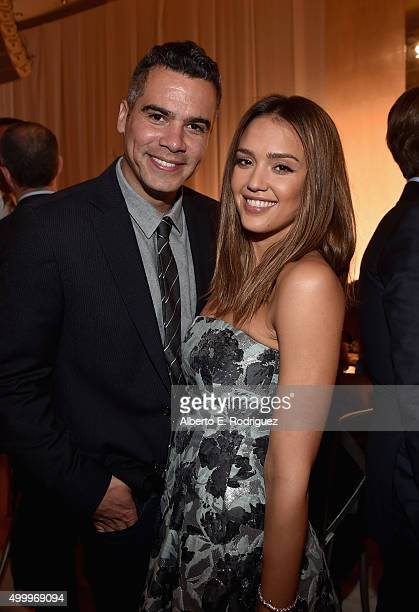 Film producer Cash Warren and Grace Kelly Award recipient Jessica Alba attend the March Of Dimes Celebration Of Babies Luncheon honoring Jessica Alba...
