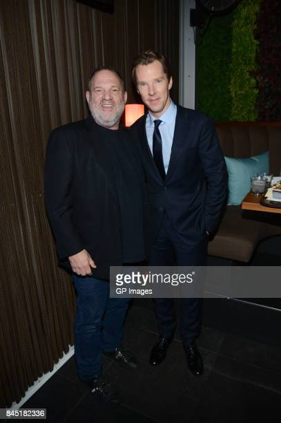 Film Producer Harvey Weinstein and Actor Benedict Cumberbatch attend Alfonso GomezRejon's 'The Current War' TIFF Premiere Party Hosted by Cactus Club...