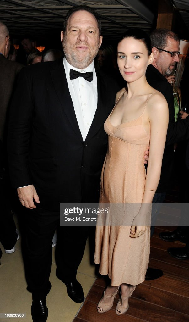 Film producer Harvey Weinstein (L) and actress Rooney Mara attend the IFP, Calvin Klein Collection & Euphoria Calvin Klein celebration of Women In Film At The 66th Cannes Film Festival on May 16, 2013 in Cannes, France.