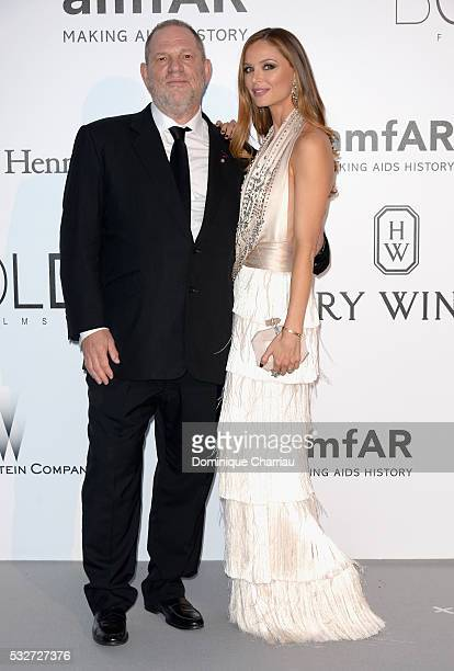 Film producer Harvey Weinstein and stylist Georgina Chapman attends the amfAR's 23rd Cinema Against AIDS Gala at Hotel du CapEdenRoc on May 19 2016...