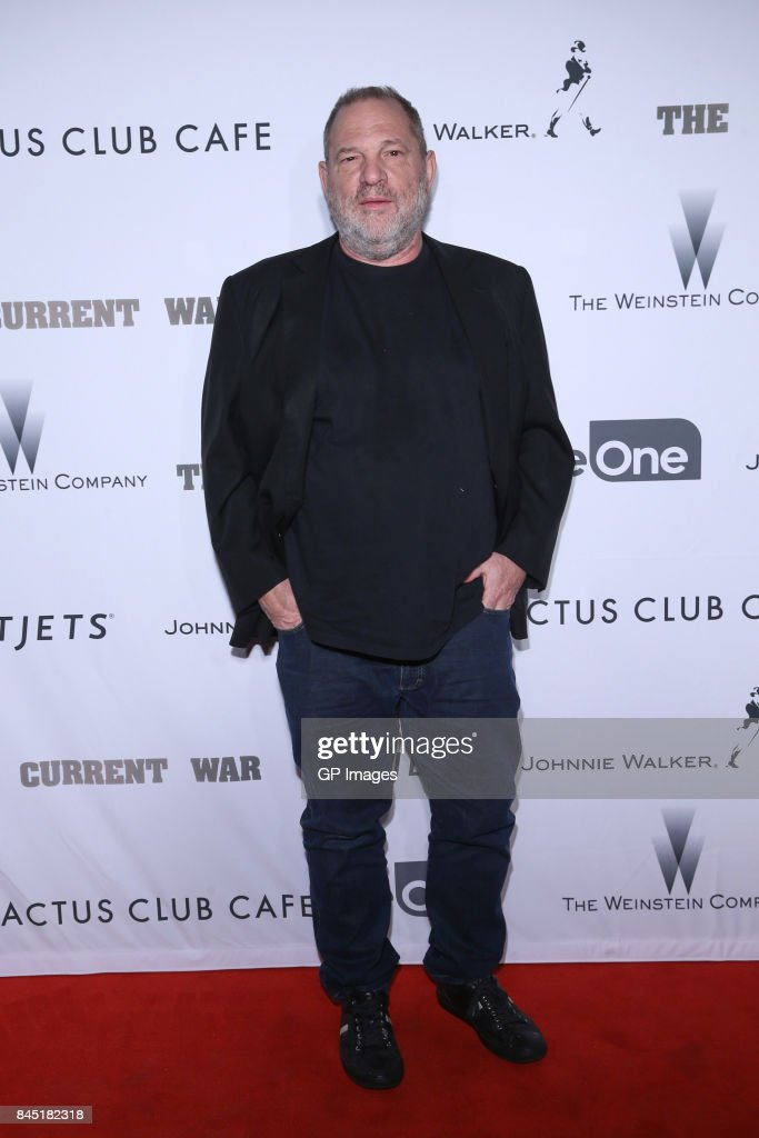 Film Producer Harvey Weinstein attends Alfonso Gomez-Rejon's 'The Current War' TIFF Premiere Party Hosted by Cactus Club Cafe And Johnnie Walker Black Label at First Canadian Place on September 9, 2017 in Toronto, Canada.