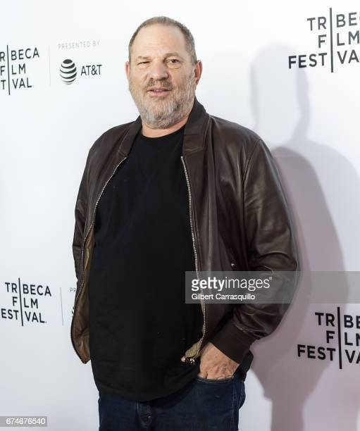 Film Producer Harvey Weinstein attends 'Reservoir Dogs' 25th Anniversary Screening during 2017 Tribeca Film Festival at The Beacon Theatre on April...
