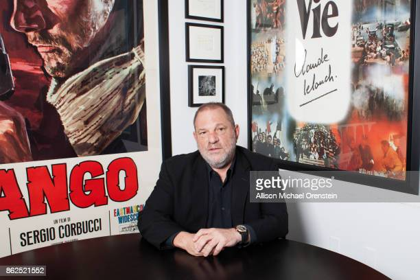 Film producer Harvey Weinstein is photographed for the Hollywood Reporter on March 27 2017 in his office in New York City