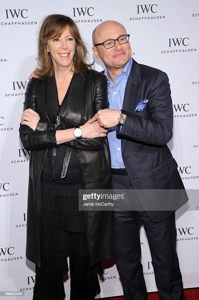Film producer Jane Rosenthal and IWC CEO Georges Kerns attend IWC and Tribeca Film Festival Celebrate 'For the Love of Cinema' on April 18, 2013 in New York City.