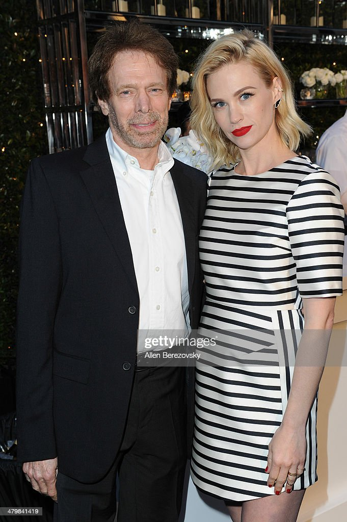 Film producer <a gi-track='captionPersonalityLinkClicked' href=/galleries/search?phrase=Jerry+Bruckheimer&family=editorial&specificpeople=203316 ng-click='$event.stopPropagation()'>Jerry Bruckheimer</a> and actress <a gi-track='captionPersonalityLinkClicked' href=/galleries/search?phrase=January+Jones&family=editorial&specificpeople=212949 ng-click='$event.stopPropagation()'>January Jones</a> attend the 2nd Annual Rebel With A Cause Gala cocktail reception at Paramount Studios on March 20, 2014 in Hollywood, California.