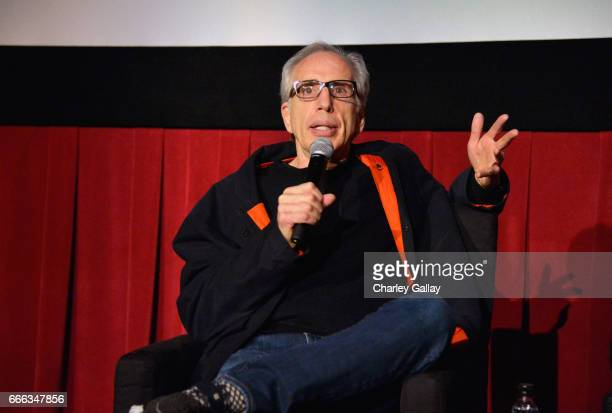 Film producer Jerry Zucker speaks onstage at the screening of 'Top Secret' during the 2017 TCM Classic Film Festival on April 8 2017 in Los Angeles...