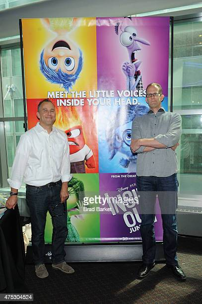 Film producer Jonas Rivera and writer/director Pete Docter attend Vulture Festival Presents Pixar screening of 'Inside Out' and discussion with Pete...