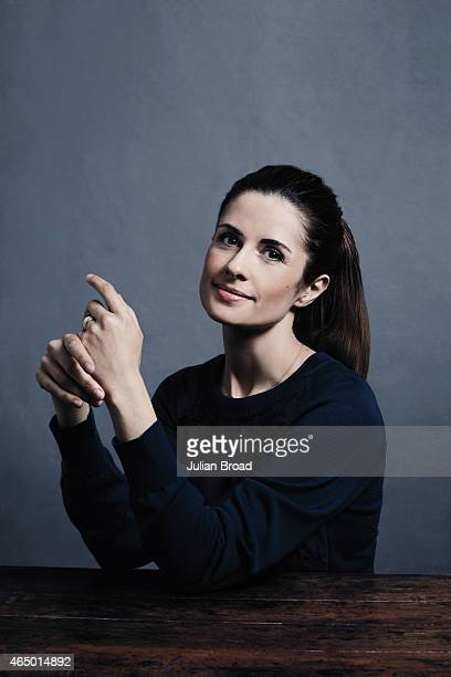 Film producer Livia Firth is photographed for Vanity Fair Magazine on June 11 2014 in London England