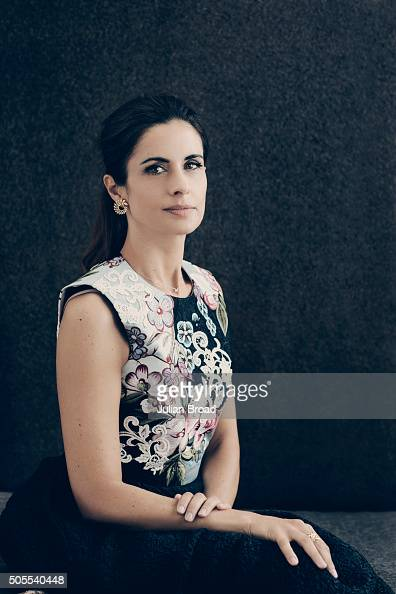 Film producer Livia Firth is photographed for Vogue on August 12 2015 in London England
