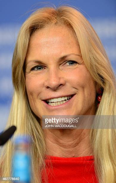 US film producer Martha De Laurentiis is pictured during a press conference of the International jury of the 65th Berlin International Film Festival...