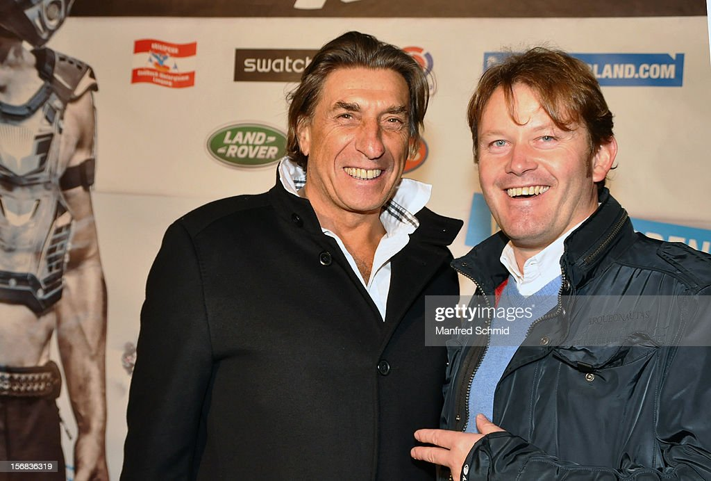 Film producer Norbert Blecha and Andy Wernig attend the Swatch Snow Mobile 2012 press conference at Graben on November 22, 2012 in Vienna, Austria.