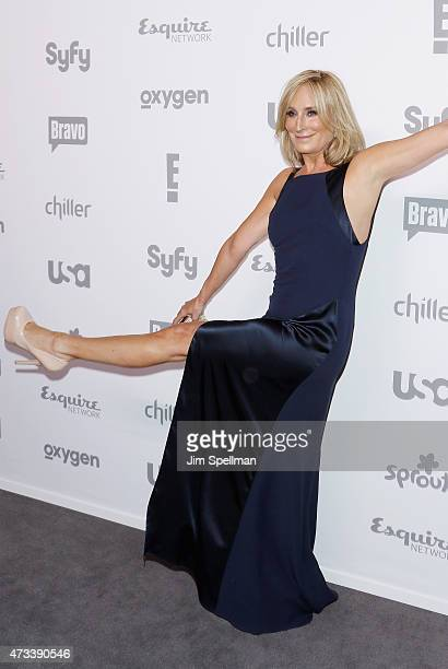 Film producer Sonja Morgan attends the 2015 NBCUniversal cable entertainment upfront at The Jacob K Javits Convention Center on May 14 2015 in New...