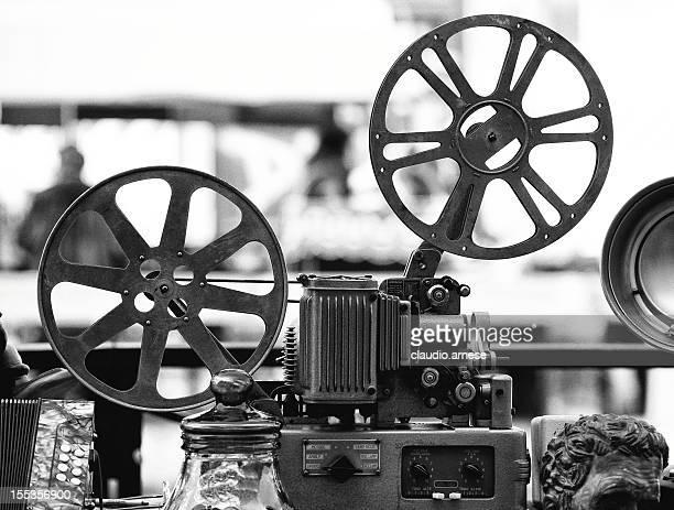 Proiettore cinematografico. Bianco e nero