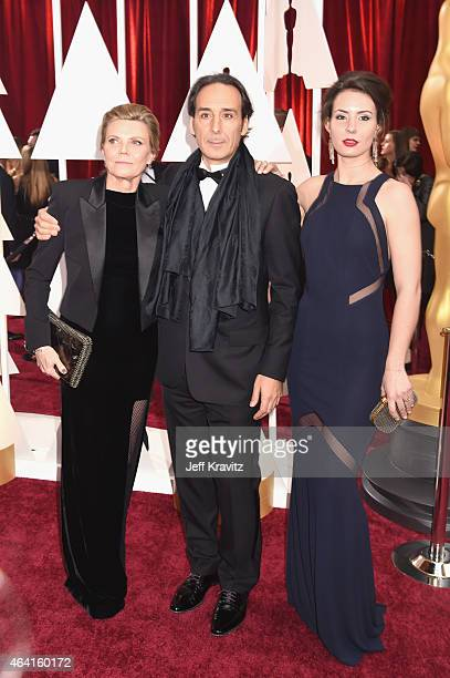 Film Score Producer Dominique LeMonnier composer Alexandre Desplat and Antonia Desplat attend the 87th Annual Academy Awards at Hollywood Highland...