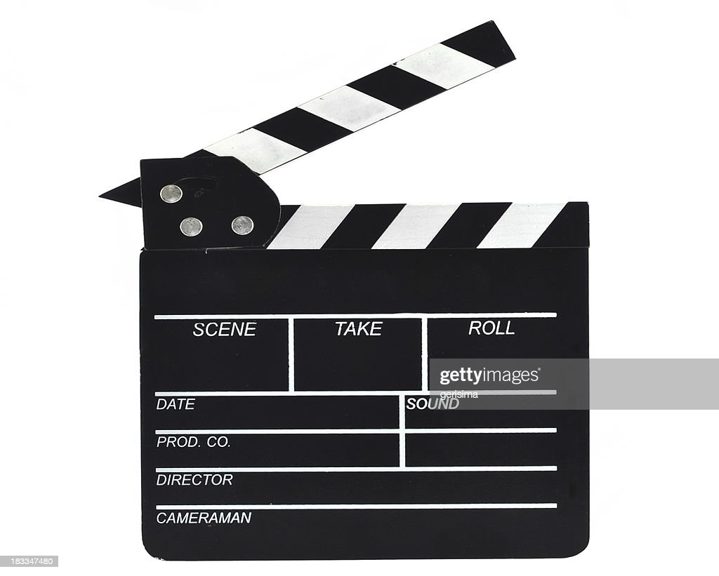 'Film Slate, isolated on white, with clipping path'