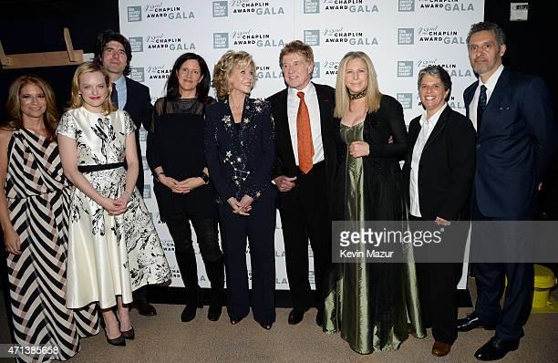 Film Society of Lincoln Center Chairman Ann Tenenbaum actress Elisabeth Moss JC Chandor Laura Poitras Jane Fonda honoree Robert Redford Barbra...