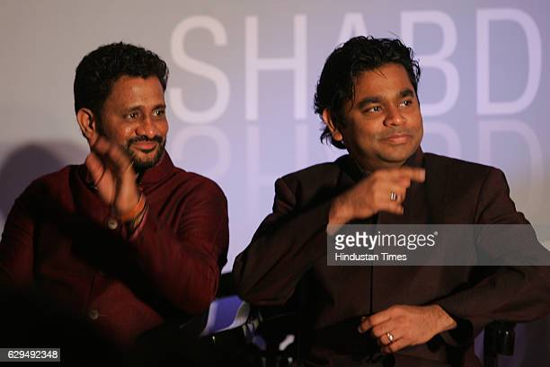 Film sound designer Resul Pookutty and AR Rahman at the release of Pookuttys autobiography in Malayalam Shabdatharapadham at a suburban hotel on...