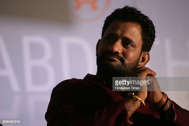 Film sound designer Resul Pookutty at the release of Pookuttys autobiography in Malayalam Shabdatharapadham at a suburban hotel on Thursday