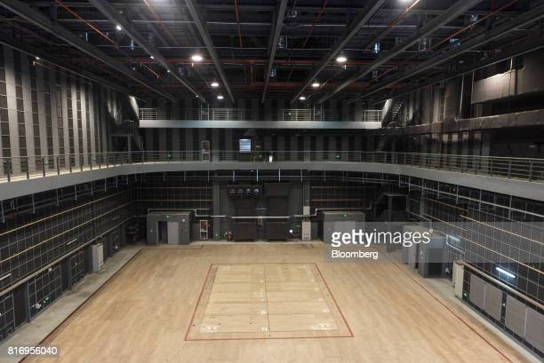 A film stage is seen inside the Dalian Wanda Group Co Oriental Movie Metropolis project site in Qingdao China on Saturday March 25 2017 Billionaire...