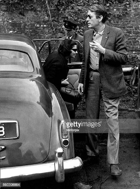 Film star Gregory Peck is pictured arriving at Crumlin yesterday where he is filming scenes for the film 'Arabesque' 22nd Aug 1965