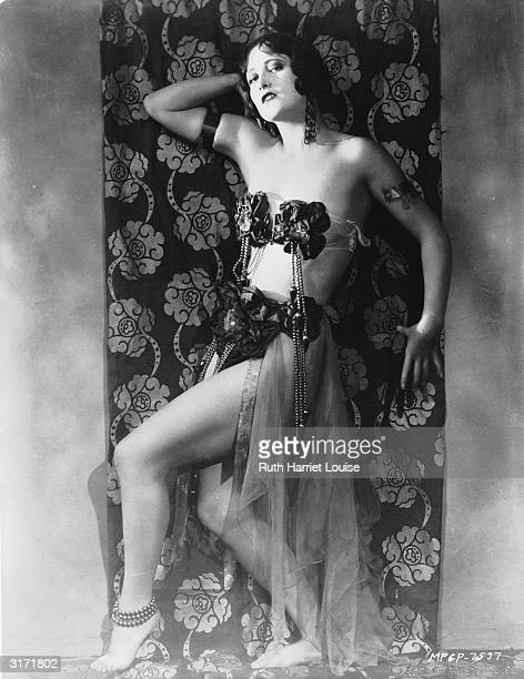 Film star Joan Crawford in slave girl costume
