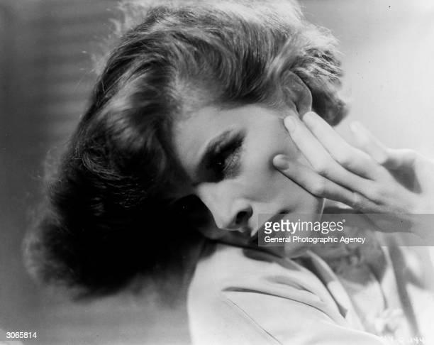 Film star Katharine Hepburn after her successful role in 'Little Women'