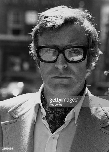 Film star Michael Caine in his trademark thick rimmed spectacles