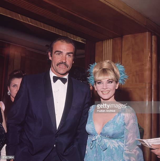 Film star Sean Connery with his first wife Diane Cilento at the film premiere of the James Bond film 'You Only Live Twice' in which he starred