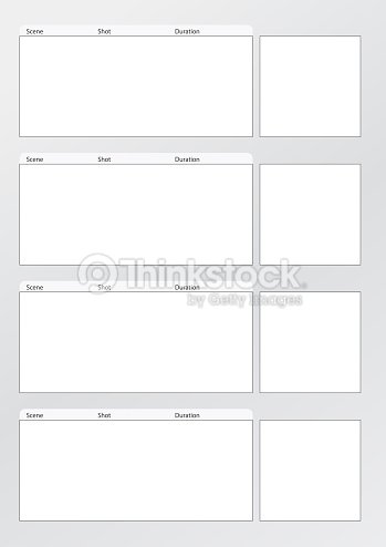 Vertical Storyboard. Storyboard Templates Professional Storyboard ...