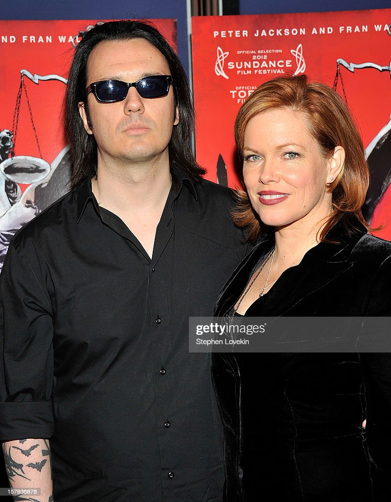 Film subject Damien Echols and producer Lorri Davis attend the New York premiere of 'West Of Memphis' at Florence Gould Hall on December 7, 2012 in New York City.