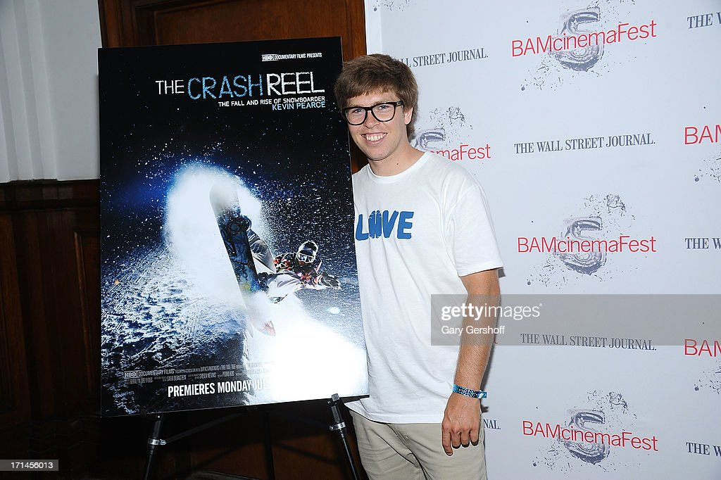 Film subject <a gi-track='captionPersonalityLinkClicked' href=/galleries/search?phrase=Kevin+Pearce&family=editorial&specificpeople=3107126 ng-click='$event.stopPropagation()'>Kevin Pearce</a> attends BAMcinemaFest New York 2013 Screening Of 'The Crash Reel' at BAM Rose Cinemas on June 24, 2013 in New York City.