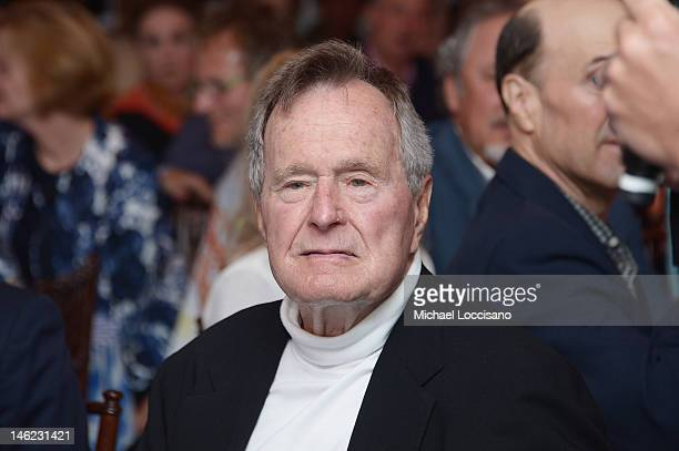 Film Subject President George HW Bush celebrates his 88th birthday following the HBO Documentary special screening of '41' on June 12 2012 in...