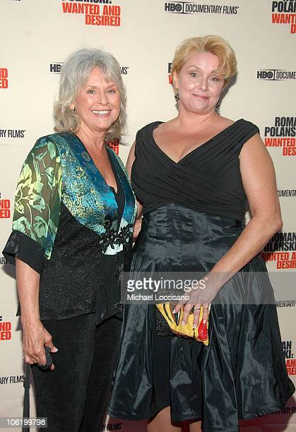 Film subject Samantha Geimer and mother Susan Gailey attend the HBO Documentaries premiere Of 'Roman Polanski Wanted And Desired' at The Paris Thatre...